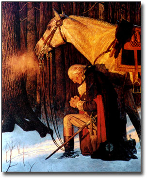 Washington prays
