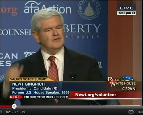 Finally! – Newt Exposes America's Cancer